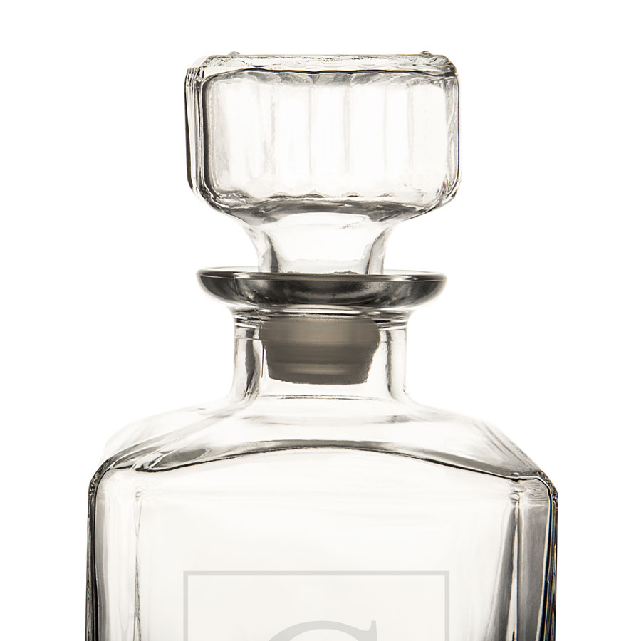 Closeup of Stopper for Personalized Whiskey Decanter