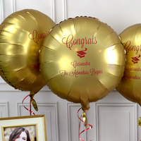 Custom printed balloons for graduation party