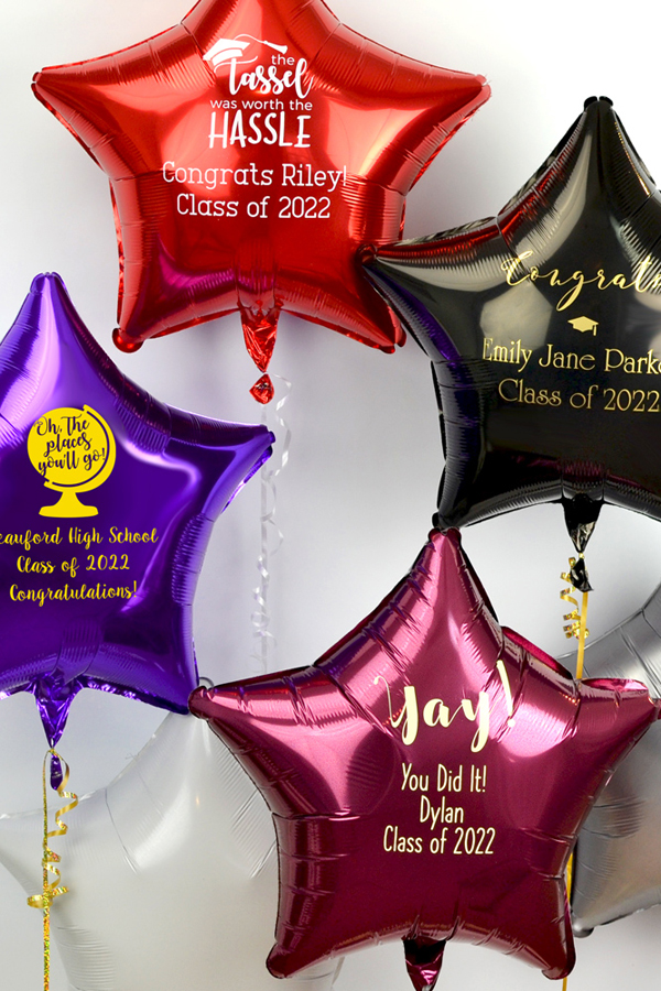 Personalized Star Mylar Graduation Balloons