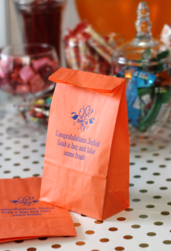 Personalized Graduation Party Paper Candy Bags