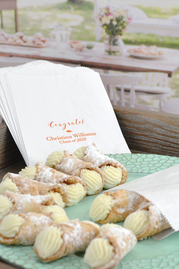 6 x 8 Gourmet Graduation Cookie & Candy Favor Bags