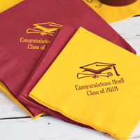 Custom Printed 3-Ply Paper Graduation Party Napkins