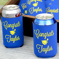 Can coolers personalized for graduation party