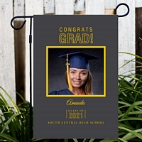 Personalized graduation garden flags
