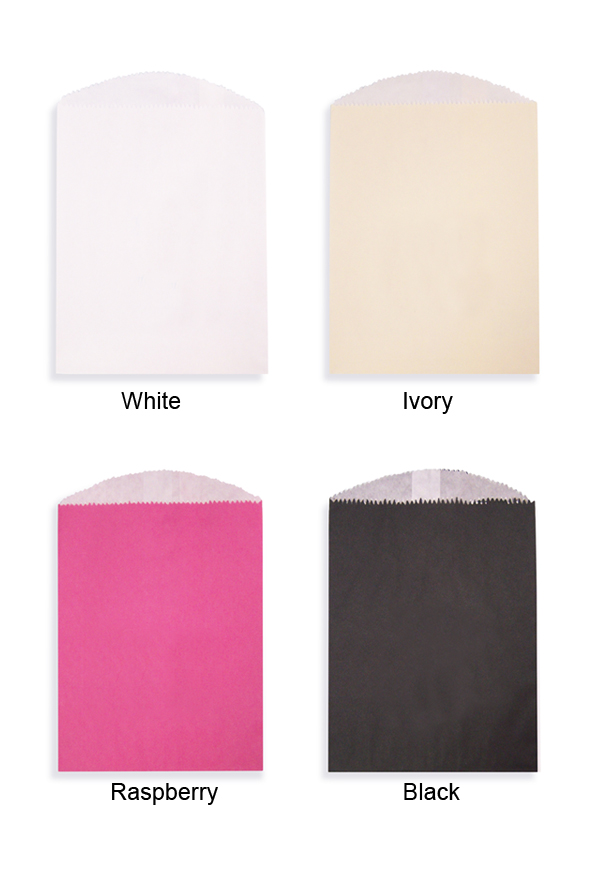 Flat Glassine Line Paper Favor Bag Color Options