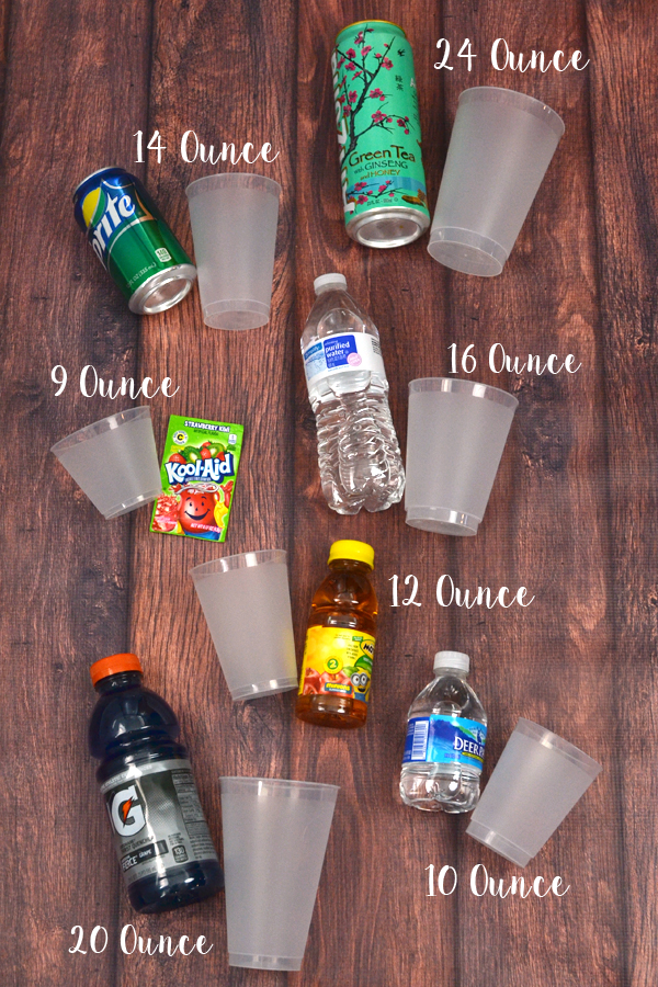 Frosted Plastic Cup Sizes