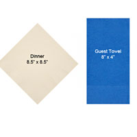 Choose from beverage, luncheon, dinner, and guest towel sizes
