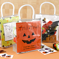 Personalized Mini Halloween Classroom Treat Bags