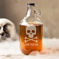 Personalized Skull & Crossbones 64 Oz Craft Beer Growler