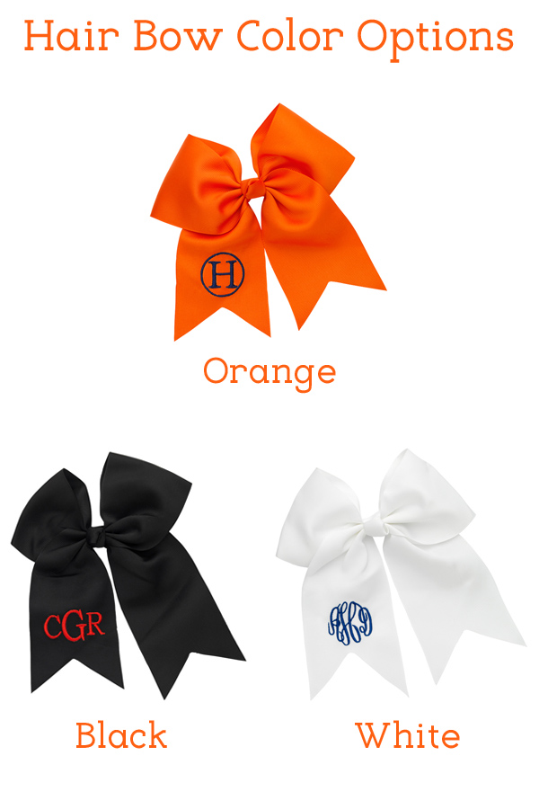 Color options for Halloween Oversized Hair Bows