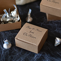 Custom Printed Halloween Kraft Candy Boxes