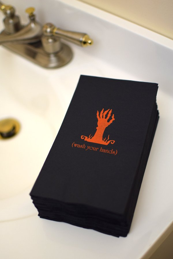 Halloween Party Custom Printed Napkins for Bathroom