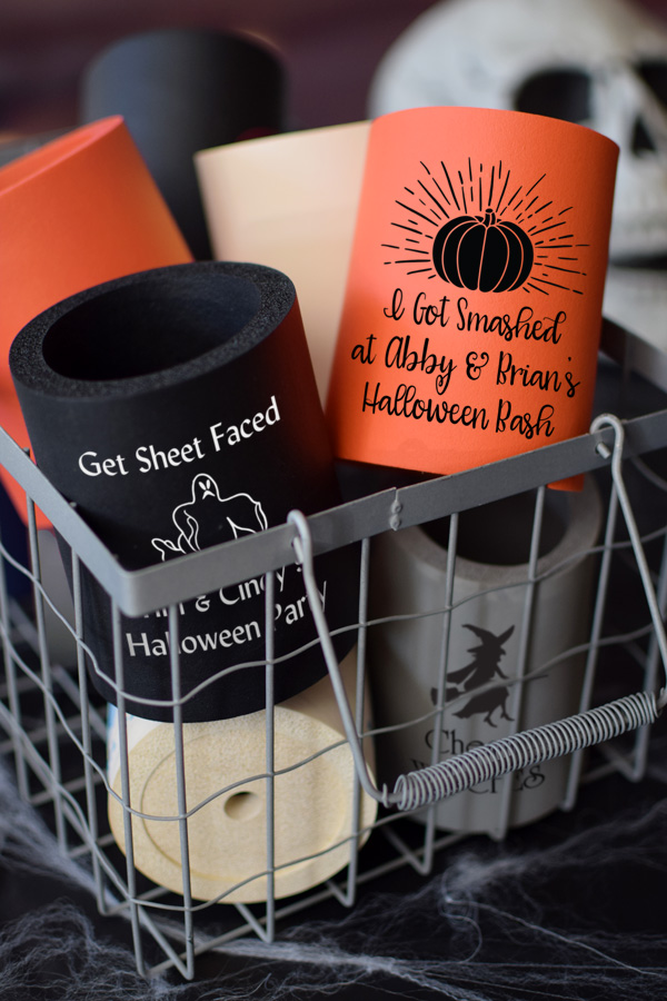 Halloween Party Custom Printed Thick Foam Can Koozies