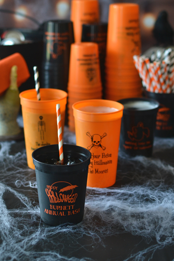 Personalized Plastic Halloween Party Stadium Cups