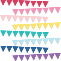 Polka Dot Paper Flag Party Banners available in 9 different color options.