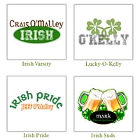 Personalized Men's St Patrick's Day Irish Tshirts