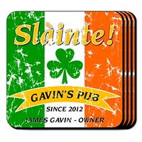Personalized Pride of the Irish Coasters