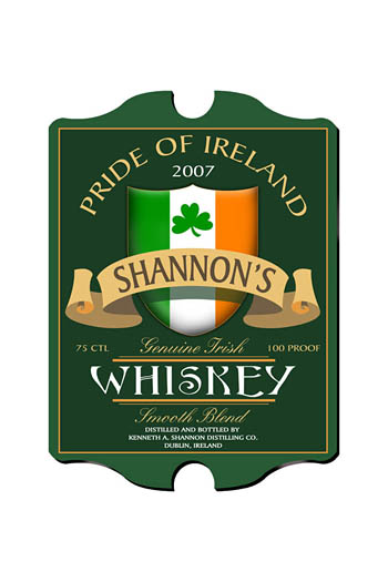 Irish Whiskey Personalized Vintage Pub Sign