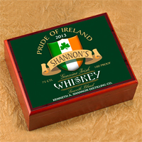 Personalized Classic Slainte Irish Cigar Humidor