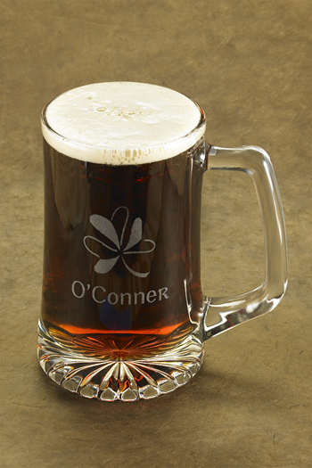 25 Oz Personalized Shamrock Beer Mug