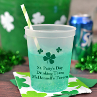 Color Changing Personalized St. Patrick's Day Stadium Cups