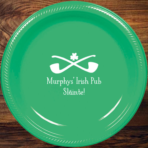 Personalized St. Patrick's Day Plastic Party Plates