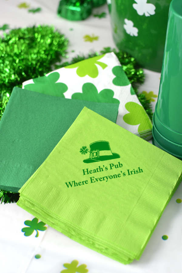 Personalized Paper St. Patrick's Day Luncheon Napkins