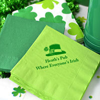 Personalized Paper St. Patrick's Day Luncheon Napkins (Set of 50)