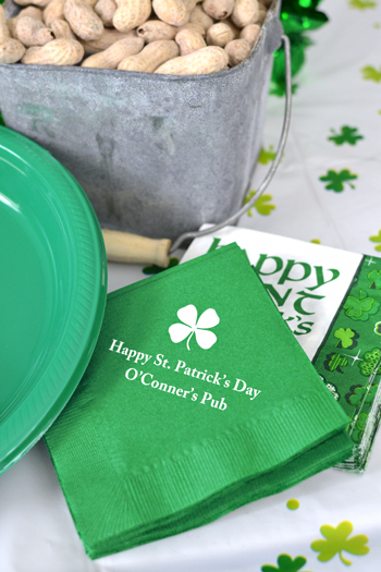 Personalized St. Patrick's Day Party Napkins