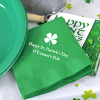 Personalized St. Patrick's Day Beverage Napkins (Set of 50)